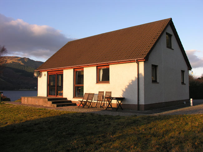 The front of Seaside Cottage
